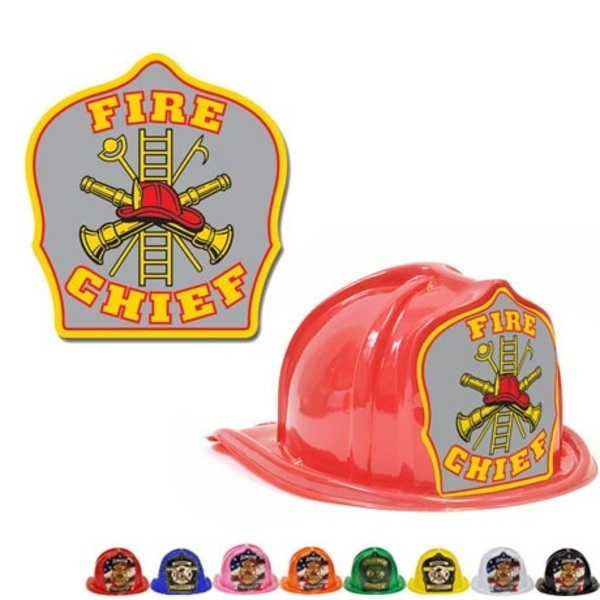 Chief's Choice Kid's Firefighter Hat, Gray Background, Stock