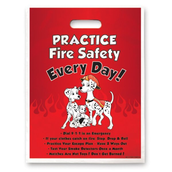 Digital Full Color Practice Fire Safety Plastic Handle Bag, Stock