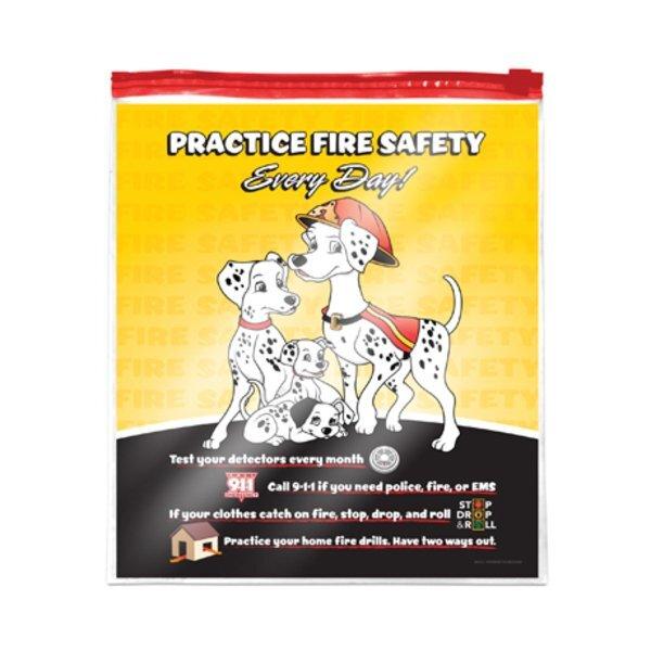 Full Color Slide Lock Bag, Practice Fire Safety Dalmatian Family, Stock