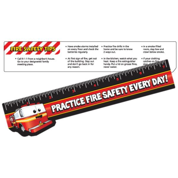Safety Laminated Practice Fire Safety Ruler, Stock