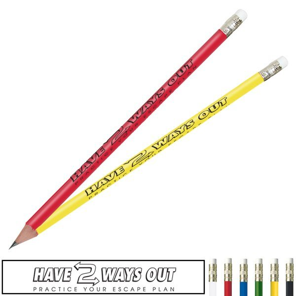 Fire Safety Pencil, Have Two Ways Out, Stock