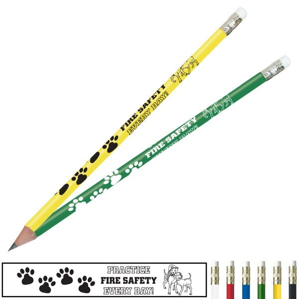 Fire Safety Pencil, Practice Fire Safety Every Day, Stock