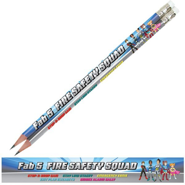 Fab 5 Fire Safety Squad, Stock Full Color Pencil