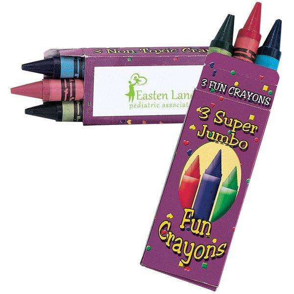 Jumbo Crayons, Three-Pack