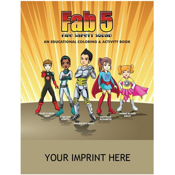 Fab 5 Fire Safety Squad Coloring & Activity Book  - On Sale!