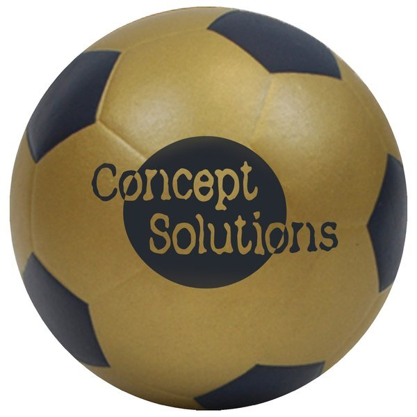 "Foam Soccer Ball w/ Painted Pentagons, 6"""