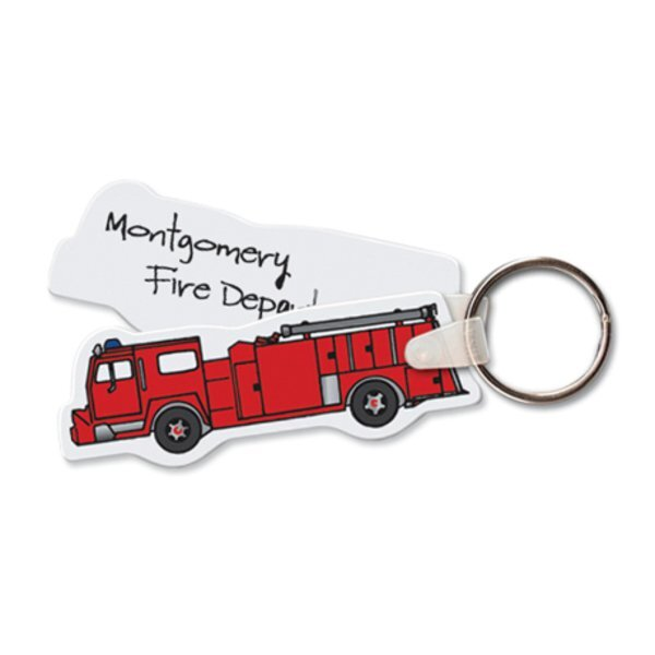 Fire Truck Full Color Key Tag