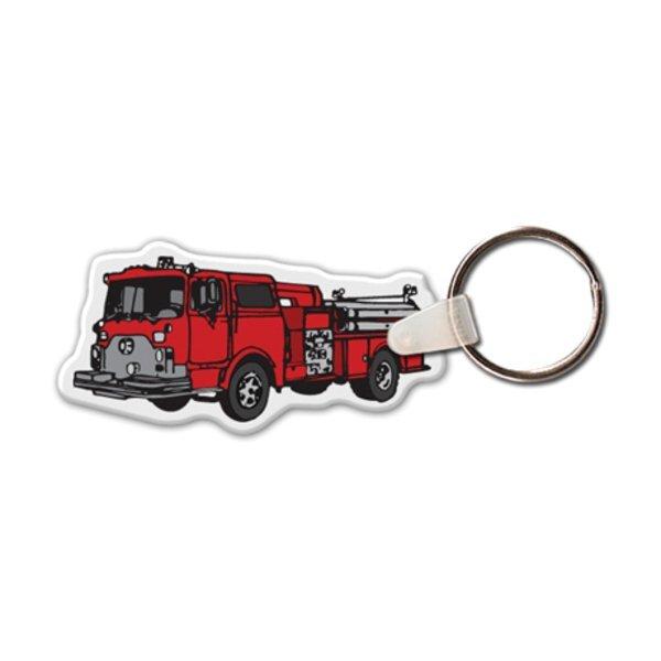 Fire Truck II Full Color Key Tag