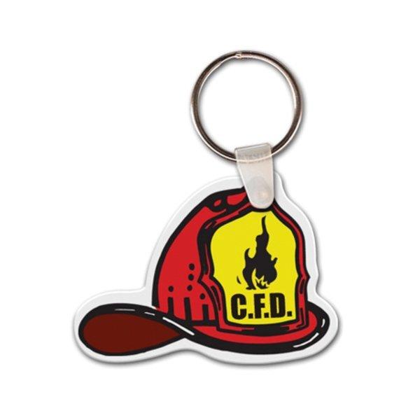 Fireman's Hat Full Color Key Tag