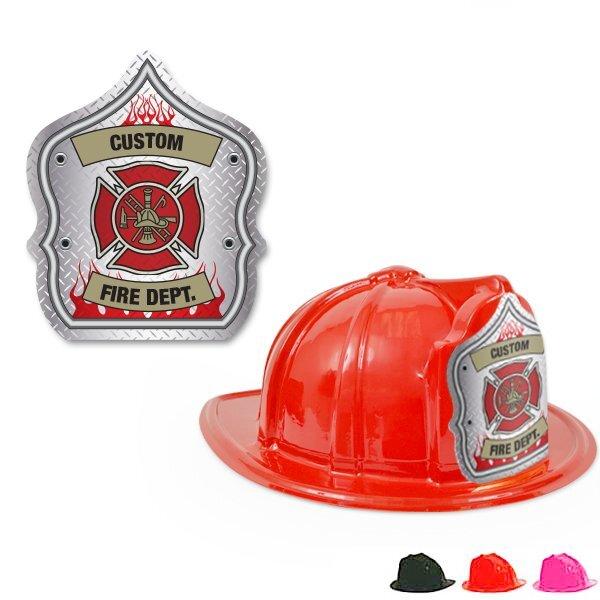Fire Station Favorite Hat Diamond Plate Design