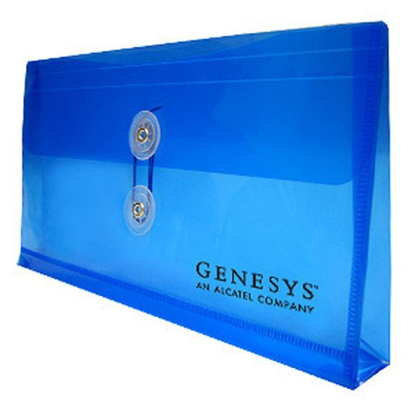 "Small Horizontal Poly Envelope with String Closure, 10"" x 5-1/4"""