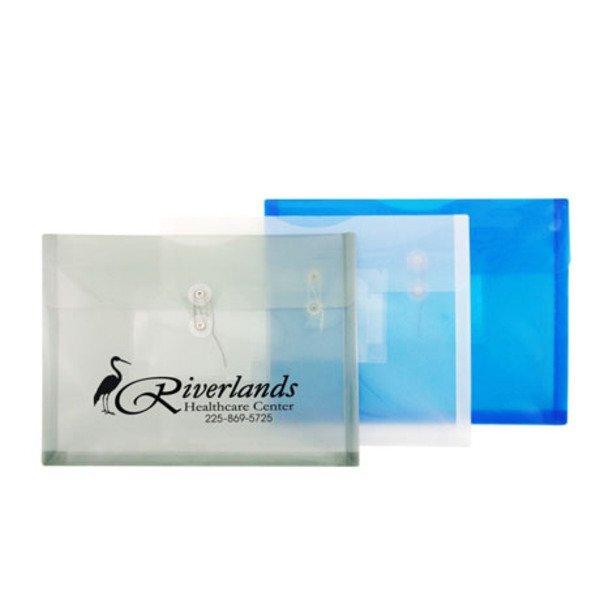 "Horizontal Poly Envelope w/ String Closure & CD Holder, 12-3/4"" x 9-3/4"""