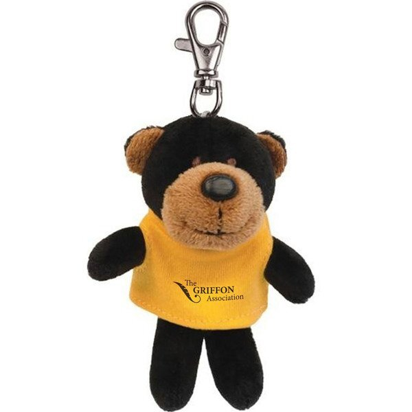Black Bear Wild Bunch Plush Key Tag