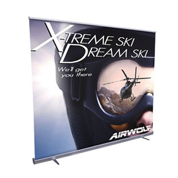 "Jumbo Wide Retractor Banner Display Kit, 96""W"