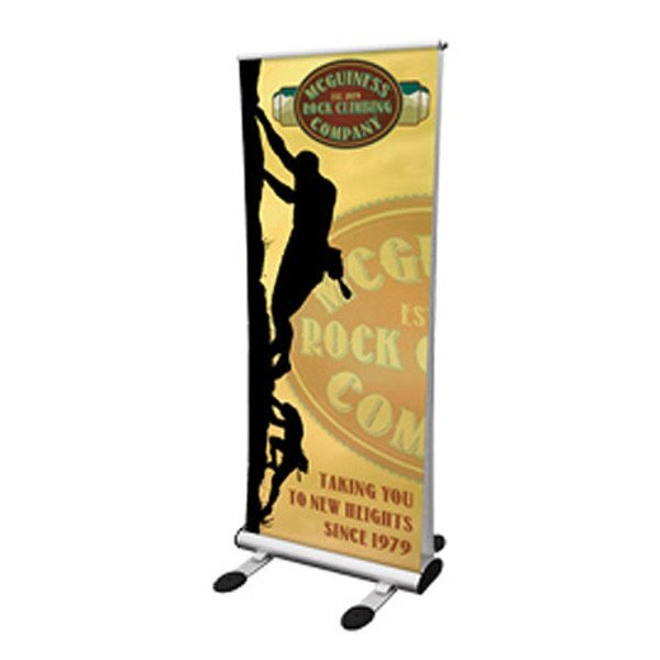 "Four Season Trek Double-Sided Outdoor Retractor Banner Display Kit, 82""H"