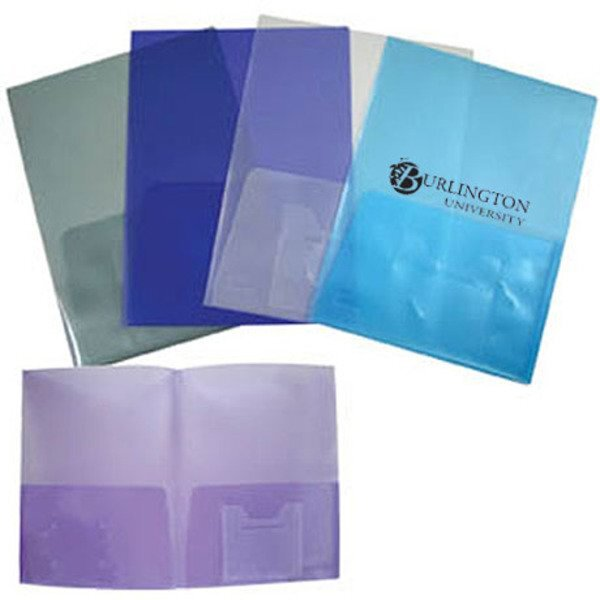 Twin Pocket Presentation Folder with Inside Pouch