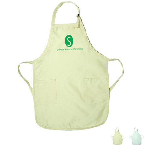 Gourmet Apron w/ Pockets – Natural & White