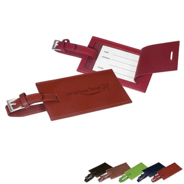 Rectangular Leather Luggage Tag