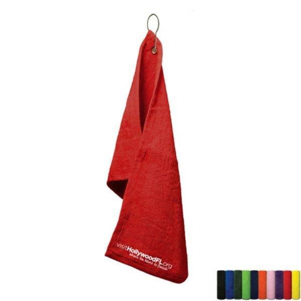 "Velour Terry Hand Towel with Grommet, 16"" x 25"""