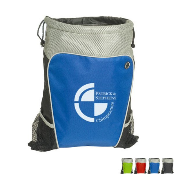 Hiker's Two-Tone 210D Polyester Drawstring Cinchpack
