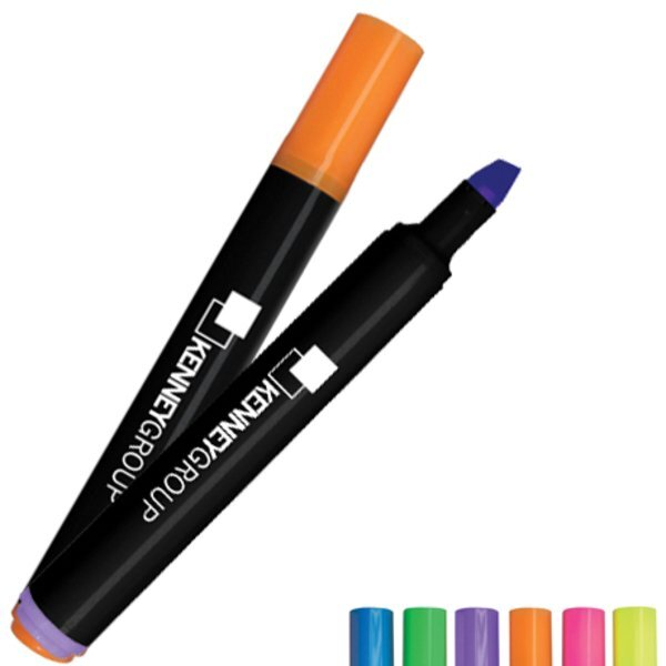 Brite Spots® Black Barrel Jumbo Fluorescent Highlighter