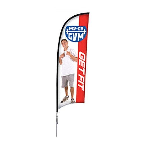 Razor™ Sail Sign Banner Kit - Single-Sided, Spike Base