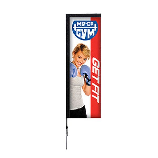 Rectangle Sail Sign Banner Kit - Single-Sided, Spike Base