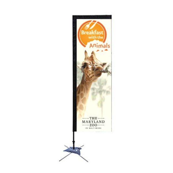 Rectangle Sail Sign Banner Kit - Single Sided, Scissor Base