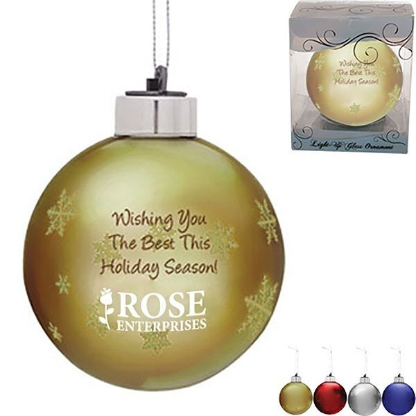 Light-Up Glass Ornament, 3""