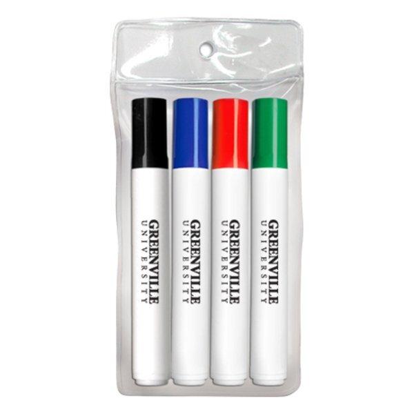 Dry Erase Markers - Bullet Tip, 4 Pack