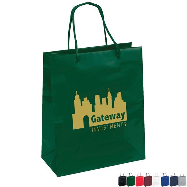 "Gloss Finish Euro Tote Gift Bag, 10"" x 12"""