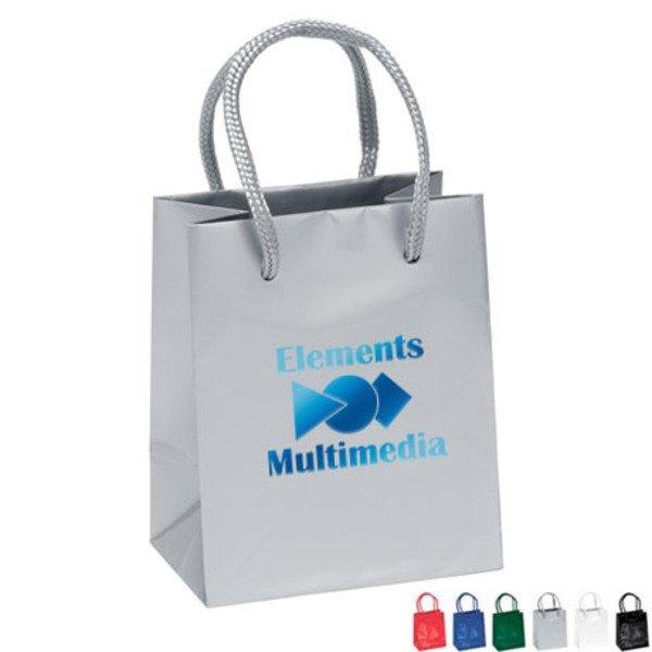 "Gloss Finish Eurotote Gift Bag, 4-1/2"" x 5-1/2"""