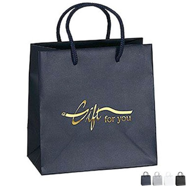 "Matte Finish Eurotote Gift Bag, 6-1/2"" x 6-1/2"""