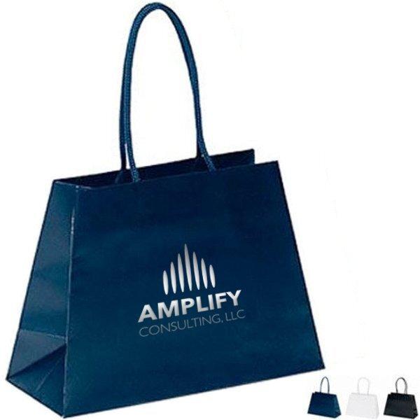 "Matte Finish Reverse Trapezoid Eurotote Gift Bag, 10"" x 7-1/2"""