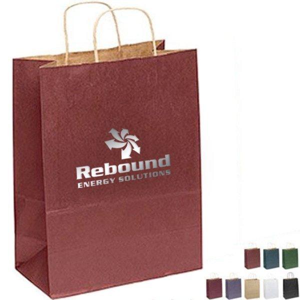 "Matte Paper Shopper Bag, 10"" x 13"""
