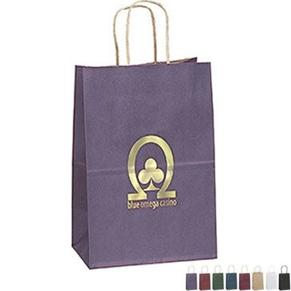"Matte Paper Shopper Bag, 5-1/4"" x 8-1/4"""