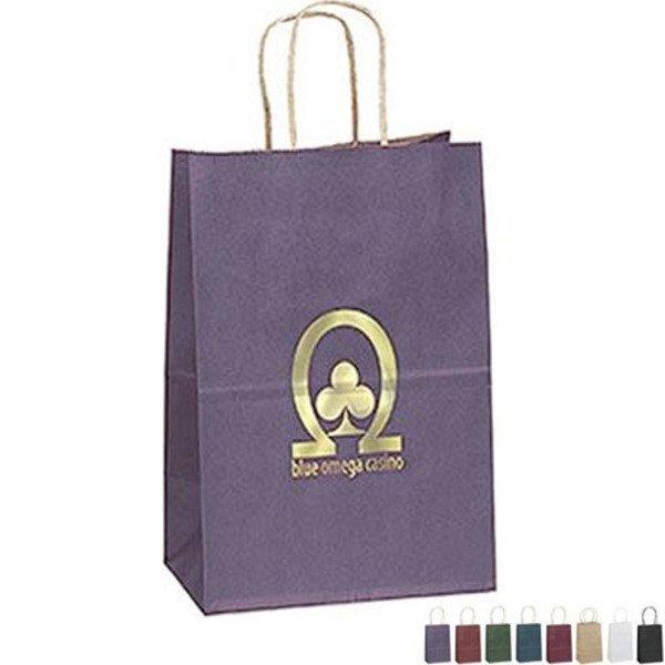 "Matte Paper Shopper Bag, 5-1/4"" x 8-1/4"""