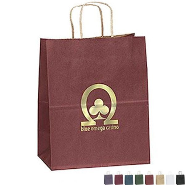 "Matte Paper Shopper Bag, 7-3/4"" x 9-3/4"""