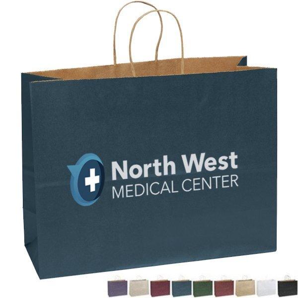 """Matte Paper Shopper Bag, 16"""" x 12"""" - Full Color Imprint"""
