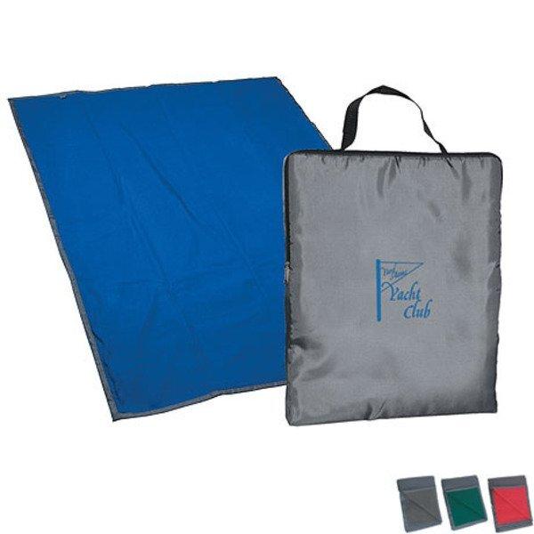 "Nylon & Fleece Reversible Blanket, 70"" x 50"""