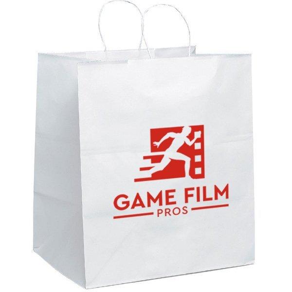 """White Paper Shopper Bag, 14"""" x 15-1/2"""""""
