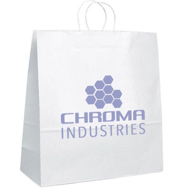 """White Paper Shopper Bag, 18"""" x 18-3/4"""""""