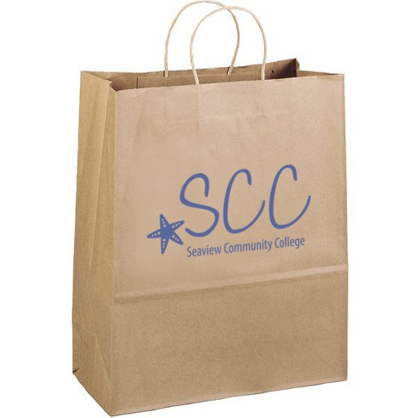 "Eco Paper Shopper Bag, 13"" x 15-3/4"""