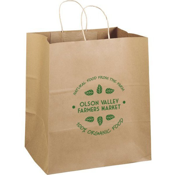"Eco Paper Shopper Bag, 14"" x 15-1/2"""