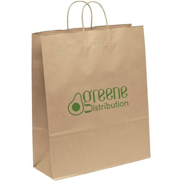 "Eco Paper Shopper Bag, 16"" x 19-1/4"""