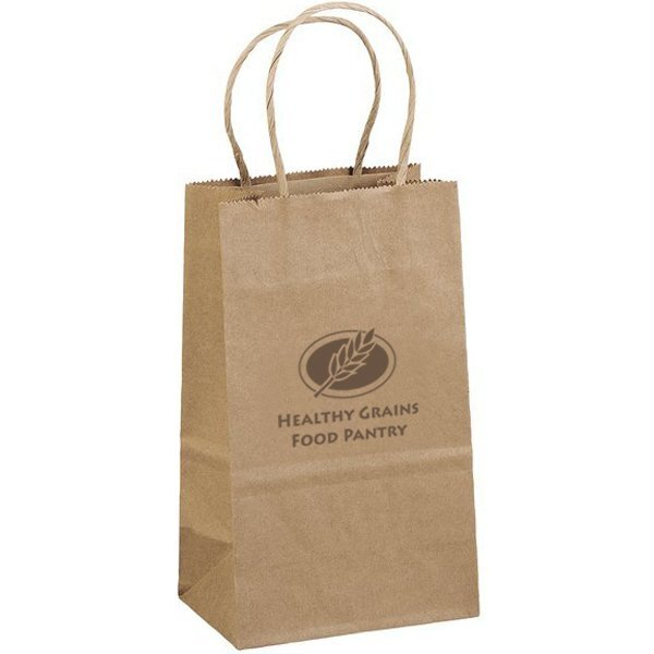 "Eco Paper Shopper Bag, 6"" x 8-1/4"""