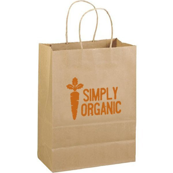 "Eco Paper Shopper Bag, 10"" x 13"""