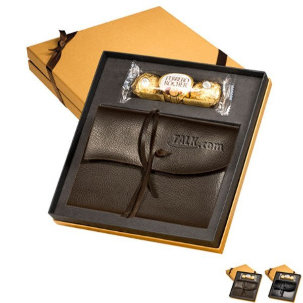 Wrapped Journal & Ferrero Rocher® Chocolates Gift Set