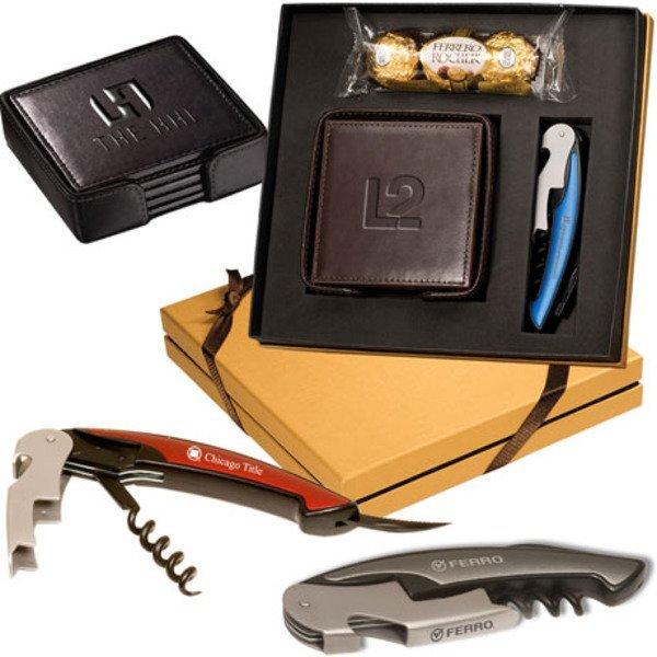 Ferrero Rocher® Chocolates, Coasters & Corkscrew Gift Set