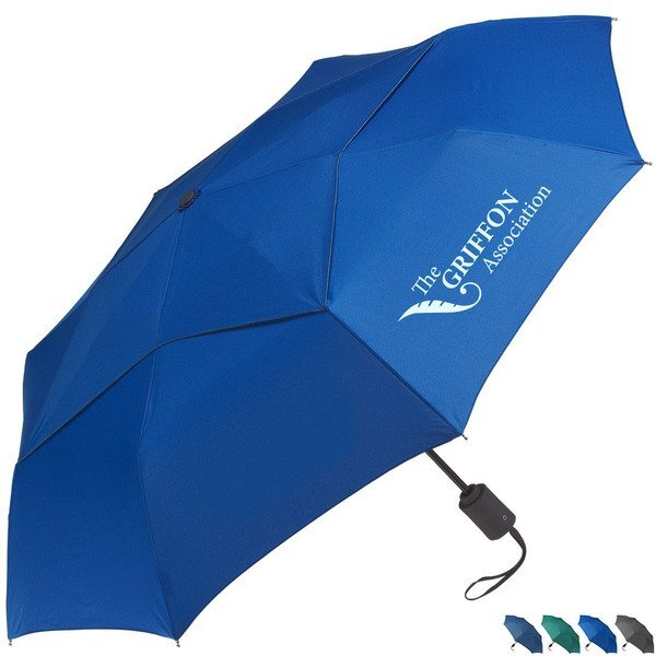 "Vented Executive Mini Folding Umbrella, 43"" Arc"